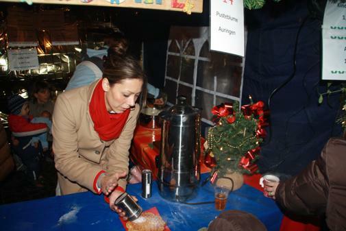 Der Pusteblume-Stand vom Weihnachtsmarkt